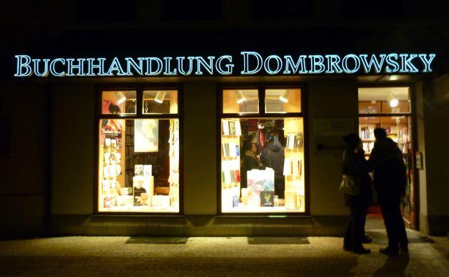 Die Buchhandlung Dombrowsky am St.-Kassians-Platz in Regensburg