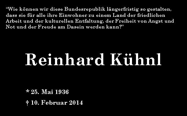 Zum Gedenken an Reinhard Kühnl