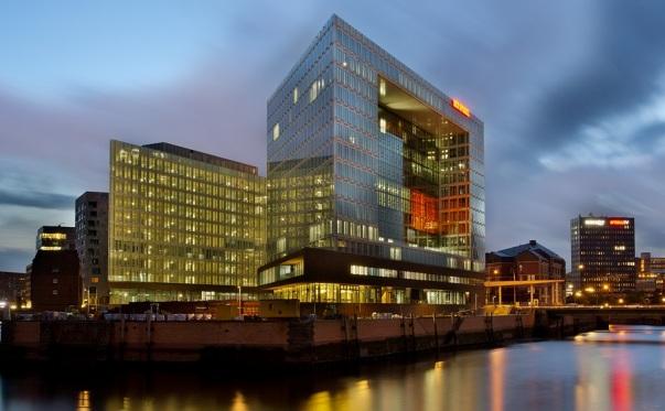 Das Spiegel-Gebäude in der Hamburger Hafencity